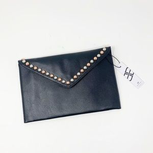 B-low The Belt Faux Leather Studded Clutch